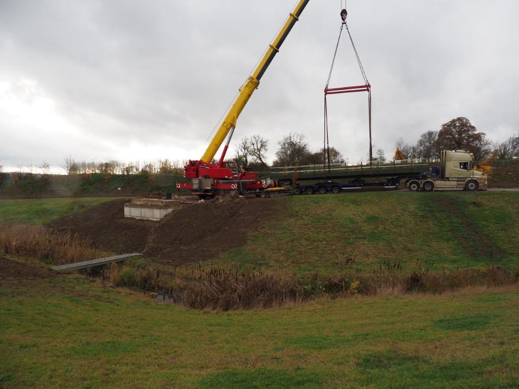 Lifting Bridge into Place